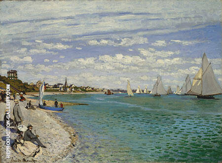 Regatta at Sainte Adresse 1867 By Claude Monet - Oil Paintings & Art Reproductions - Reproduction Gallery