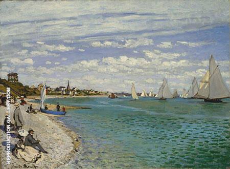 Regatta at Sainte Adresse 1867 By Claude Monet
