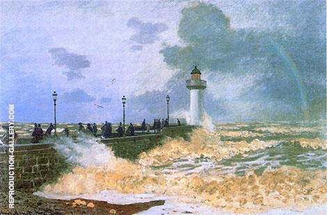 The Jetty at le Havre 1868 By Claude Monet