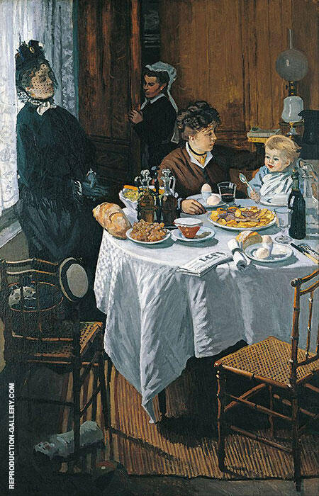 The Luncheon c1868 Painting By Claude Monet - Reproduction Gallery