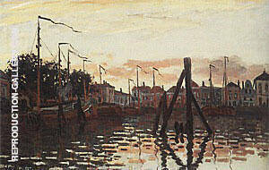 The Port of Zaandam 1871 By Claude Monet Replica Paintings on Canvas - Reproduction Gallery