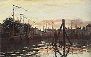 The Port of Zaandam 1871 By Claude Monet