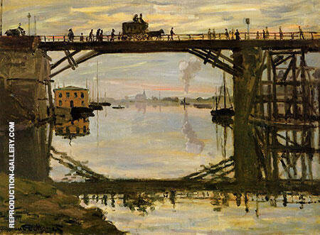 The Highway Bridge Under Repair 1872 By Claude Monet Replica Paintings on Canvas - Reproduction Gallery