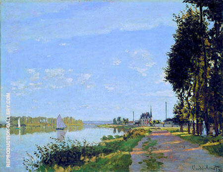 The Promenade at Argenteuil 1872 By Claude Monet Replica Paintings on Canvas - Reproduction Gallery