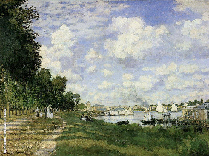The Basin at Argenteuil 1872 By Claude Monet