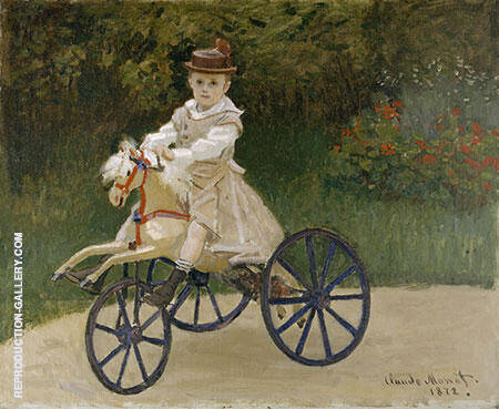 Reproduction of Jean Monet on his Hobby Horse 1872 by Claude Monet | Oil Painting Replica On CanvasReproduction Gallery
