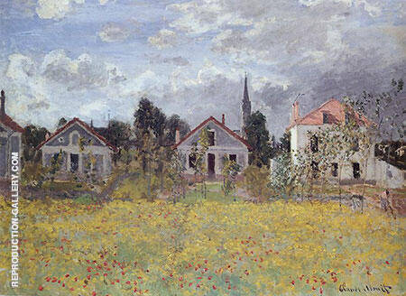 Houses by the edge of the Fields 1873 By Claude Monet - Oil Paintings & Art Reproductions - Reproduction Gallery