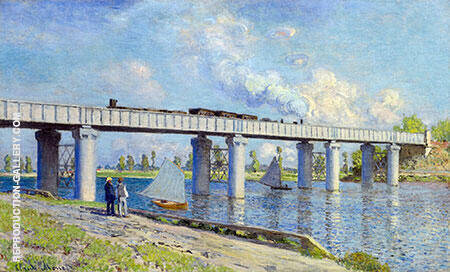 The Railroad Bridge at Argenteuil 1873 Painting By Claude Monet