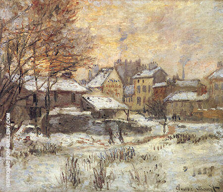 Effect of Snow Setting Sun c1874 Painting By Claude Monet