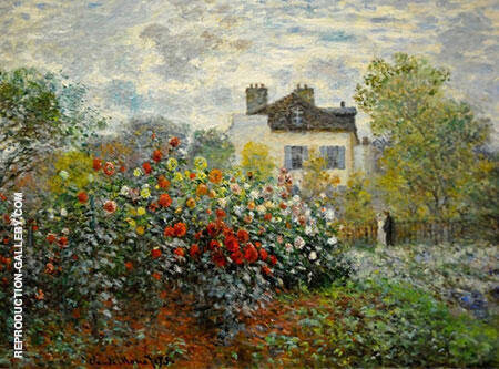 A Corner of the Garden with Dahlias 1873 By Claude Monet