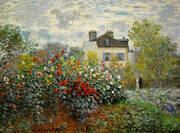 A Corner of the Garden with Dahlias 1873 By Claude Monet