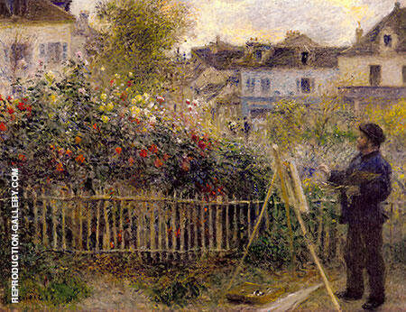Monet Painting in his Argenteuil Garden 1873 By Claude Monet Replica Paintings on Canvas - Reproduction Gallery
