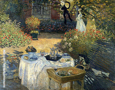 Reproduction of The Luncheon 1873 by Claude Monet | Oil Painting Replica On CanvasReproduction Gallery