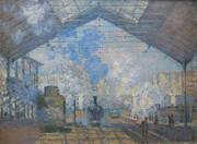 Interior of the Gare Saint Lazare 1877 By Claude Monet