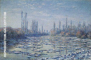 Reproduction of Ice Floes on the Seine by Claude Monet | Oil Painting Replica On CanvasReproduction Gallery