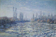 Ice Floes on the Seine By Claude Monet