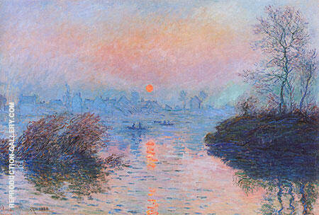 Sunset at Lavacourt 1880 Painting By Claude Monet - Reproduction Gallery