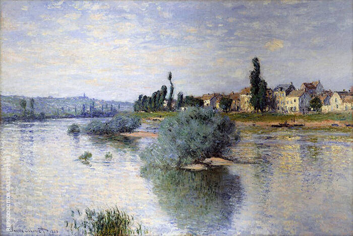 The Seine at Lavacourt 1880 By Claude Monet