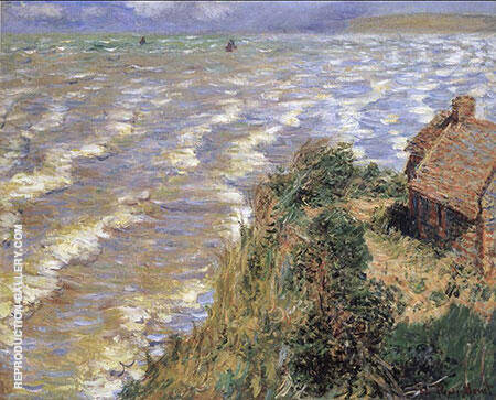 Customs House at Varengeville 1882 Painting By Claude Monet