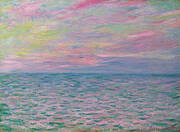 Sunset at Pourville 1882 By Claude Monet