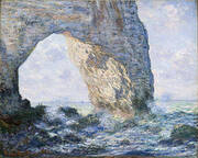 The Manneporte 1883 By Claude Monet