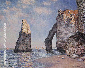 The Needle Rock and the Porte d' Aval 1885 By Claude Monet