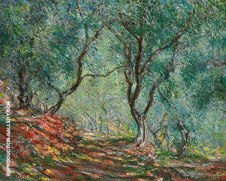 Olive Grove in the Moreno Garden 1884 By Claude Monet