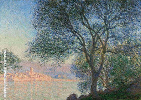 Antibes Viewed from La Salis 1888 By Claude Monet - Oil Paintings & Art Reproductions - Reproduction Gallery