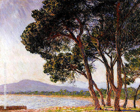 The Beach at Juan les Pins 1888 By Claude Monet - Oil Paintings & Art Reproductions - Reproduction Gallery