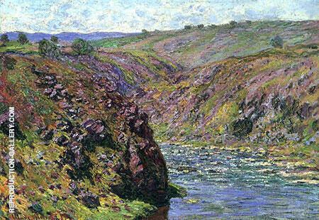 Valley of the Creuse Sunlight Effect 1889 By Claude Monet - Oil Paintings & Art Reproductions - Reproduction Gallery