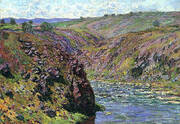 Valley of the Creuse Sunlight Effect 1889 By Claude Monet