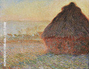 Wheatstack Sunset 1890-91 By Claude Monet