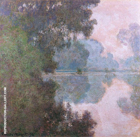 Morning on the Seine near Giverny 1896-97 By Claude Monet - Oil Paintings & Art Reproductions - Reproduction Gallery