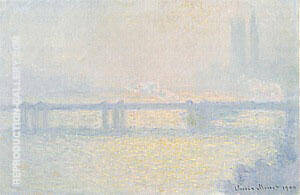 Charing Cross Bridge, The Thames, 1899-1900 By Claude Monet - Oil Paintings & Art Reproductions - Reproduction Gallery