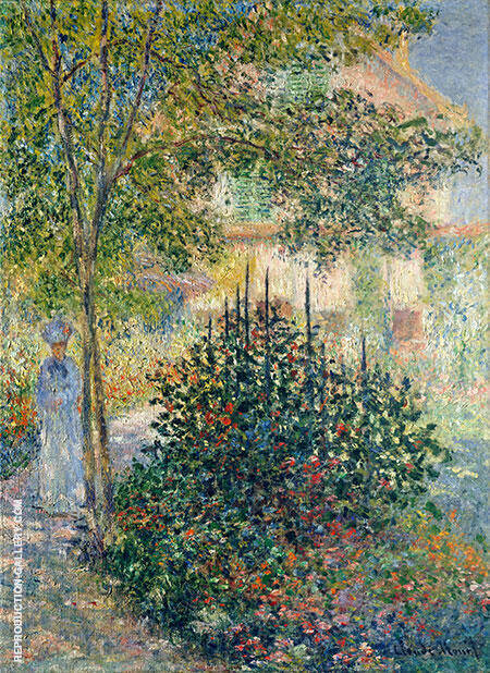Camille Monet in the Garden at Argenteuil 1876 By Claude Monet - Oil Paintings & Art Reproductions - Reproduction Gallery