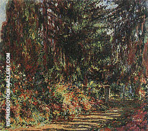 Reproduction of Path through the Garden at Giverny, 1902 by Claude Monet | Oil Painting Replica On CanvasReproduction Gallery