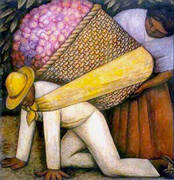 The Flower Carrier 1935 By Diego Rivera