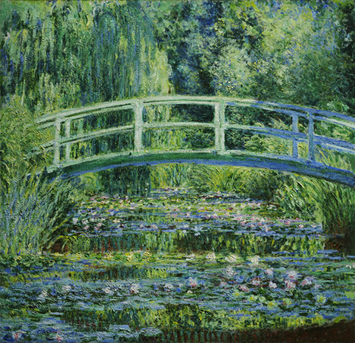 Water Lilies and Japanese Bridge 1899 Painting By Claude Monet