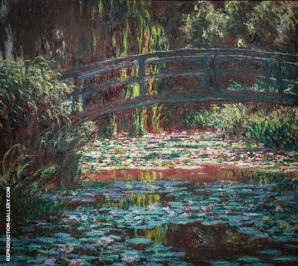 The Water Lily Pond [Japanese Bridge], 1900 by Claude Monet | Oil Painting Reproduction Replica On Canvas - Reproduction Gallery