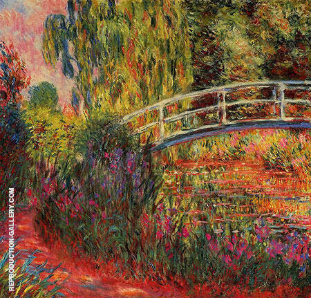 The Water Lily Pond Japanese Bridge 2 1900 By Claude Monet - Oil Paintings & Art Reproductions - Reproduction Gallery