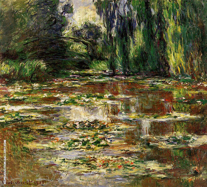 The Bridge over the Water Lily Pond 1905 Painting By Claude Monet