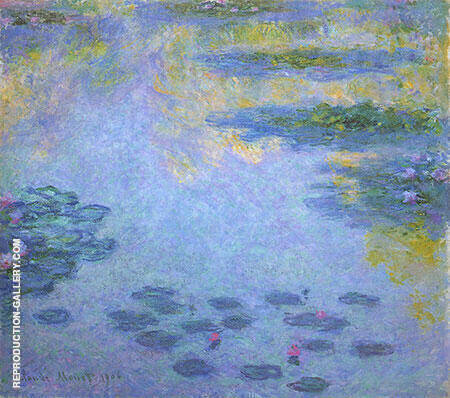 Water Lilies 1906 Painting By Claude Monet - Reproduction Gallery