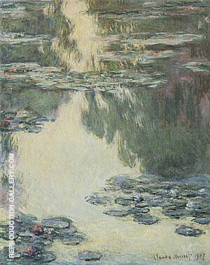 Water Lilies, 1907 By Claude Monet Replica Paintings on Canvas - Reproduction Gallery