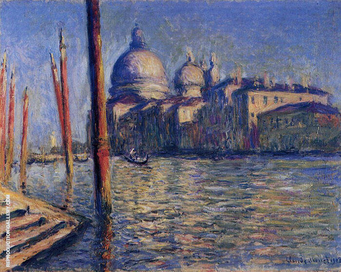 The Grand CanaSanta Maria della Salute 1908 By Claude Monet