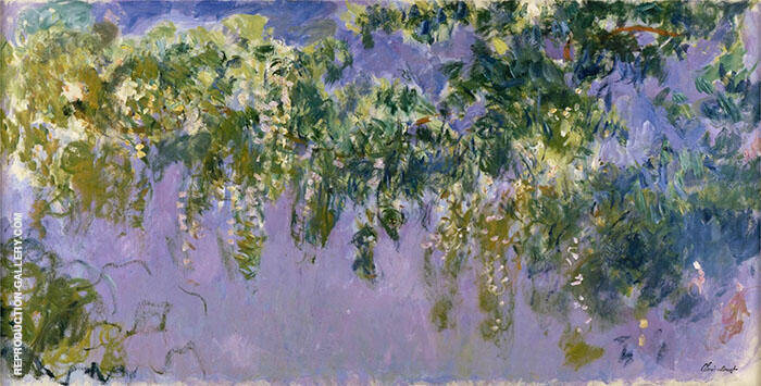 Wisteria 1919-20 Painting By Claude Monet - Reproduction Gallery