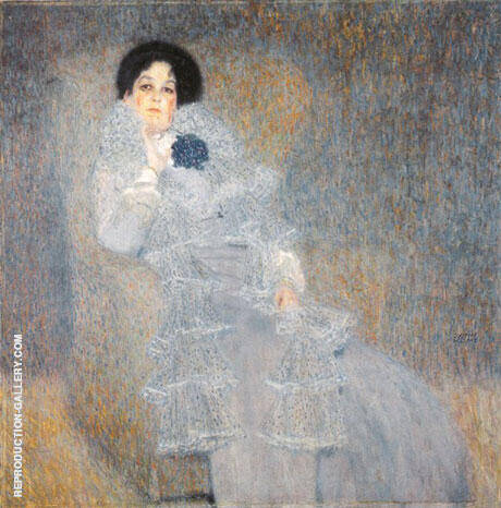 Portrait of Marie Henneberg, 1901 By Gustav Klimt Replica Paintings on Canvas - Reproduction Gallery
