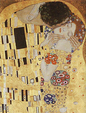 Kiss Detail, 1907/1908 By Gustav Klimt - Oil Paintings & Art Reproductions - Reproduction Gallery