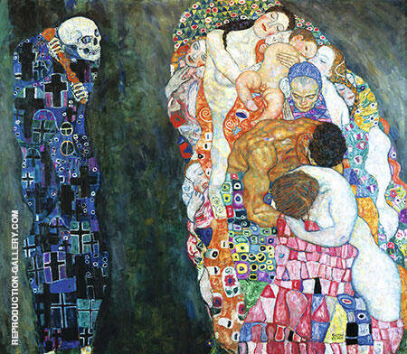 Death and Life 1916 By Gustav Klimt Replica Paintings on Canvas - Reproduction Gallery