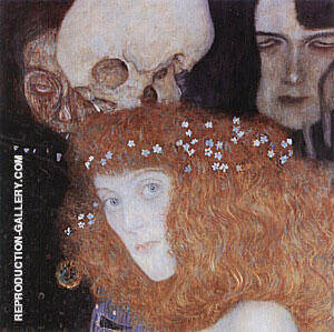 Hope I (Detail), 1903 By Gustav Klimt - Oil Paintings & Art Reproductions - Reproduction Gallery