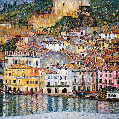 Malcesine on Lake Garda, 1913 Painting By Gustav Klimt
